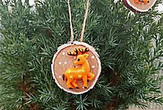 - Vianočná ozdoba s jelenčekom - 9952141_