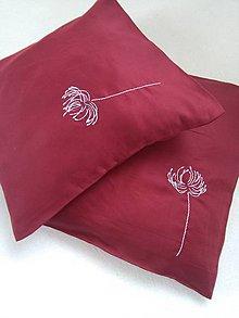 Úžitkový textil - Kvetina (vankúš s ručnou výšivkou) - 9954039_