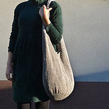 Veľké tašky - pletená taška BIG EGG šedá - 9954179_