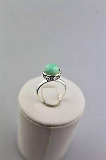 Prstene - amazonit prsteň striebro - nastaviteľný - 9953590_