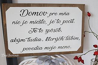 Tabuľky - Tabuľka Domov - 9953726_