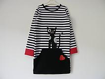 Detské oblečenie - Šaty s mačkou - 9953537_