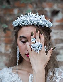 """Ozdoby do vlasov - Svadobná korunka """"ľadová kráľovná"""" - 9953750_"""