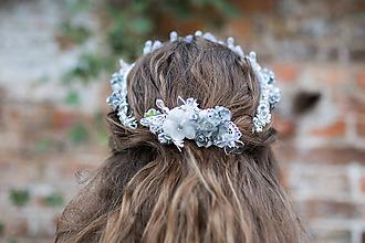 """Ozdoby do vlasov - Svadobný hrebienok """"ľadová kráľovná"""" - 9953760_"""