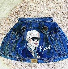 Iné oblečenie - Ručne maľovaná riflová vesta pop art Karl - 9953392_