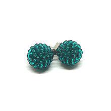 Náušnice - EARBERRIES smaragdovo zelené zapichovačky - 9955106_
