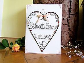 Papiernictvo - Veľká svadobná pohľadnica - 9954915_