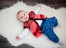 Detské oblečenie - Letný pásikavý svetrík/vesta - 9955373_