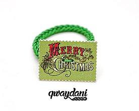 Ozdoby do vlasov - GUMIČKA | Vianočná (Zelená) - 9956185_