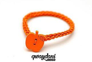 Ozdoby do vlasov - GUMIČKA | Jabĺčka (Oranžová) - 9956246_