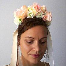 Ozdoby do vlasov - Svadobná parta Marhuľka - 9958416_