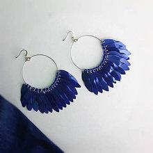 Náušnice - kruhy modré - 9956658_