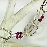 Náramky - Stříbrný náramek s granátem Berry - 9957857_