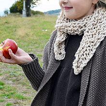 Detské doplnky - jemný šálik z ALPAKY pieskový - 9957555_
