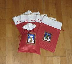 Úžitkový textil - Mikulášske/vianočné vrecúška na drobnosti (dva varianty) (na drobnosti 4) - 9956463_