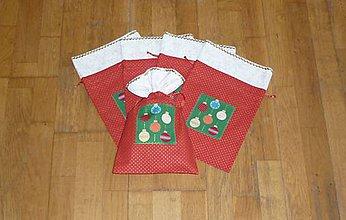 Úžitkový textil - Mikulášske/vianočné vrecúška na drobnosti (dva varianty) (na drobnosti 2) - 9956524_