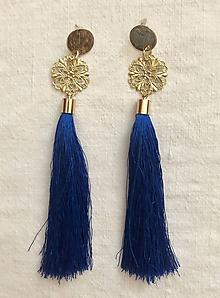 Náušnice - Kráľovské modré - 9956841_
