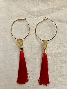 Náušnice - Červené a elegantné - 9956873_