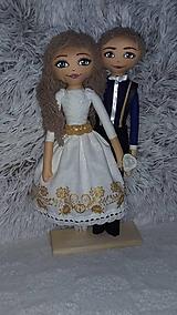 Bábiky - Svadobný pár - 9958467_