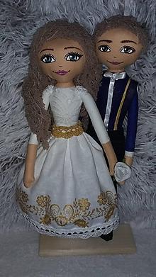 Bábiky - Svadobný pár - 9958477_