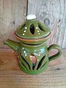Svietidlá a sviečky - aromalampa-čajník - 9955434_