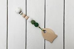 Hračky - Háčkované hryzadielko - rybka (Biela-svetlozelená-zelená) - 9958341_