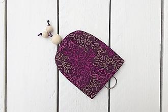 Kľúčenky - Kľúčenka - fialové lístky - 9958769_