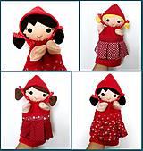 Hračky - Maňuška Červená čiapočka - na objednávku - 9957991_