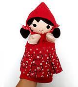 Hračky - Maňuška Červená čiapočka - na objednávku - 9958007_
