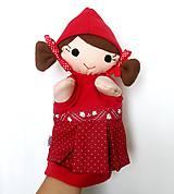 Hračky - Maňuška Červená čiapočka - na objednávku - 9958008_