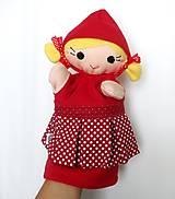 Hračky - Maňuška Červená čiapočka - na objednávku - 9958009_