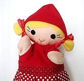 Hračky - Maňuška Červená čiapočka - na objednávku - 9958015_