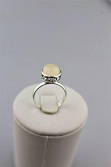 Prstene - ruženín prsteň striebro - nastaviteľný - 9955658_