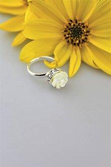 Prstene - perleť prsteň striebro - nastaviteľný - 9955672_