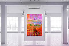 Obrazy - Hmlisté ráno - veľký pestrofarebný obraz - 9957301_