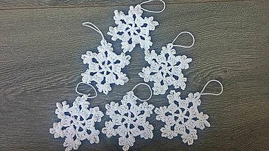 Dekorácie - Vianočná dekorácia / ..vločka - 9956298_