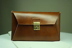 Kabelky - Kožená listová kabelka WALNUT GOLD - 9958355_