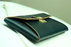 Kabelky - Kožená listová kabelka EMERALD GOLD - 9958544_