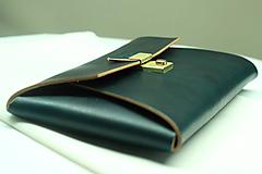 Kabelky - Kožená listová kabelka EMERALD GOLD - 9958548_