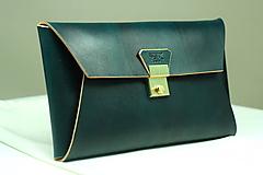 Kabelky - Kožená listová kabelka EMERALD GOLD - 9958565_