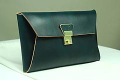 Kabelky - Kožená listová kabelka EMERALD GOLD - 9958567_