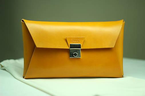 Kožená listová kabelka YELLOW SILVER   SAIRAM - SAShE.sk - Handmade ... 0a513e2ef0d