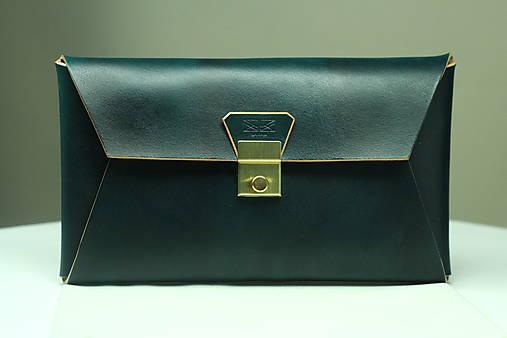 Kožená listová kabelka EMERALD GOLD