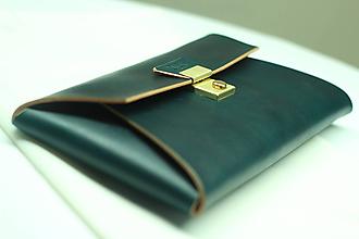 Kabelky - Kožená listová kabelka EMERALD GOLD - 9958549_