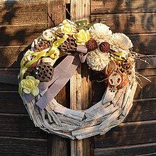 Dekorácie - Veľký drevený veniec na Dušičky - 9958578_