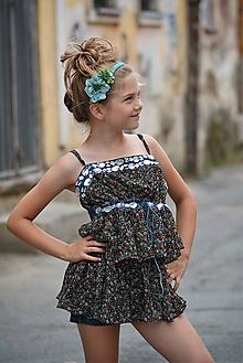Ozdoby do vlasov - Detská čelenka modrá nálada - 9958077_