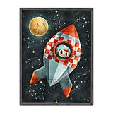 Úžitkový textil - Prikrývka Space Rider - 9958661_