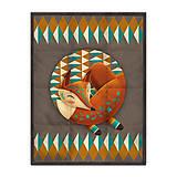 Úžitkový textil - Prikrývka Sleeping Foxy - 9958669_