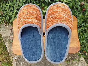 Obuv - Oranžovo modré papuče - 9957641_