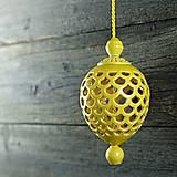 Dekorácie - Ozdoba šiška žlutá - 9957137_